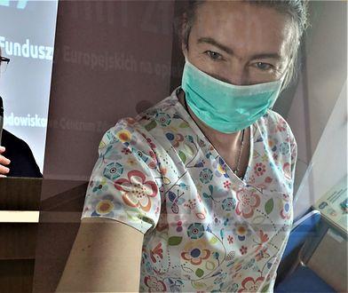 Dyrektor szpitala w Nowym Targu Marek Wierzba i  Renata Piżanowska