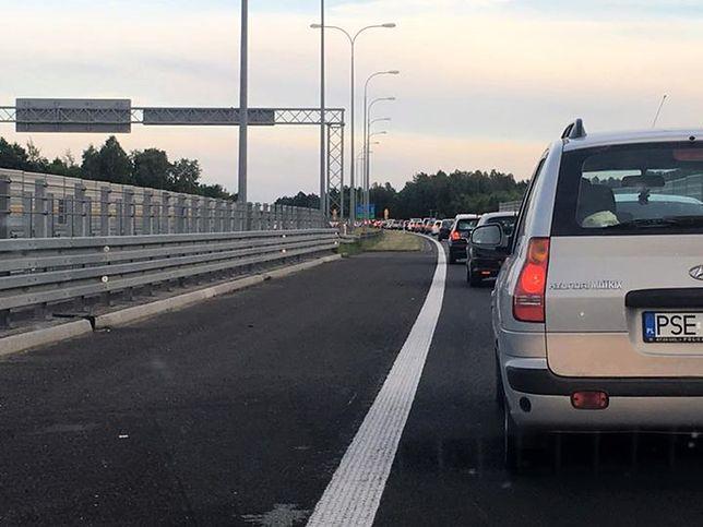 Korek na autostradzie miał nawet 15 km