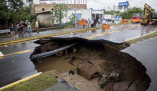 Skutki przejścia huraganu w Nikaragui.