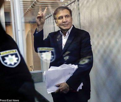 Micheil Saakaszwili na sali rozpraw w Kijowie