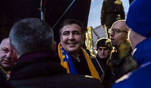 Mikheil Saakaszwili podczas protestów antyrządowych