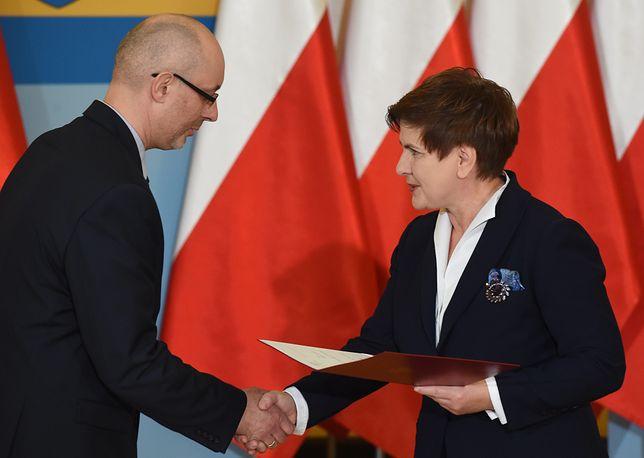 Adrian Czubak i Beata Szydło