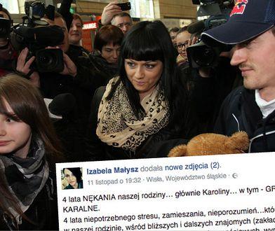 Dramatyczny wpis żony Adama Małysza na Facebooku. Ich córka ofiarą stalkingu