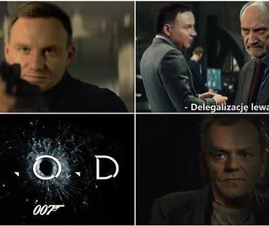 Andrzej Duda jako James Bond. Internet pokochał to nagranie