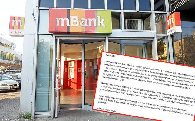 mBank znowu zamyka konta klientów biznesowych.