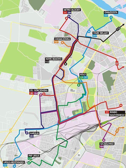 Co z autobusami na Bemowie, Bielanach i Woli? Jest nowy projekt