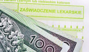 W ubiegłym roku ZUS wstrzymał wypłatę prawie 16,3 mln zł zasiłków chorobowych