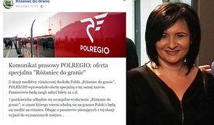 Informacja o promocji Polregio i pani Żaneta Czerwińska