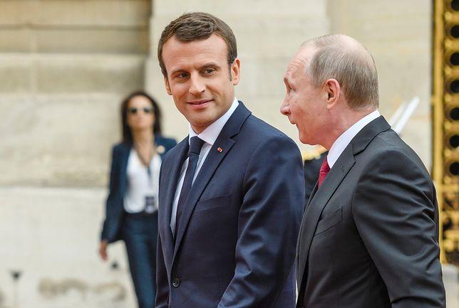 Francja uczy Putina historii Rosji. Spotkanie w Wersalu pokazuje porażkę Kremla