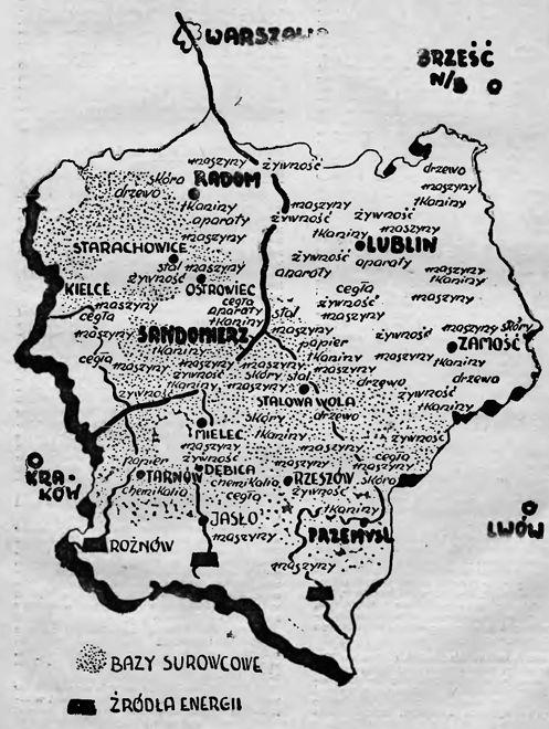 Centralny Okręg Przemysłowy obejmował swoim zasięgiem kilka województw Polski