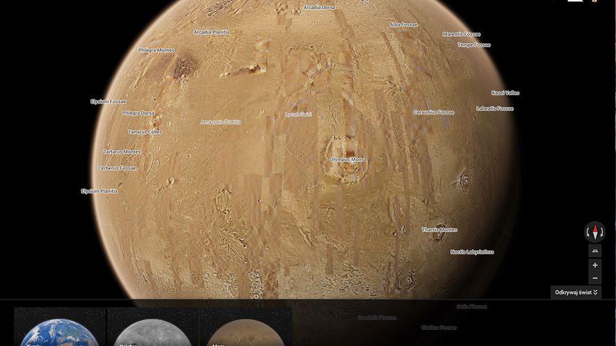3, 2, 1… Startujemy! Poleć na Księżyc i Marsa z Mapami Google