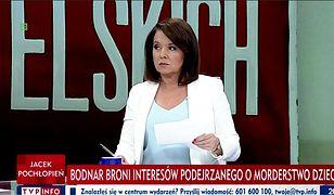 """Danuta Holecka w studio """"Minęła dwudziesta""""."""