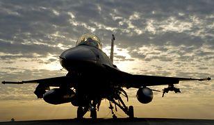 Katastrofa myśliwca F-16. Rozbił się obok Las Vegas