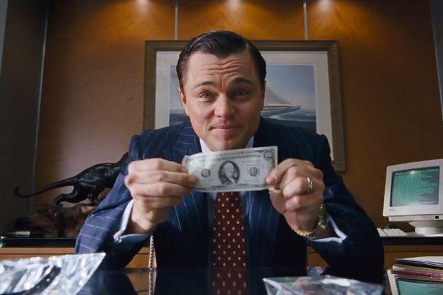 """Leonardo DiCaprio, kadr z filmu """"Wilk z Wall Street"""""""