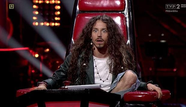 "Michał Szpak na planie ""The Voice of Poland"""