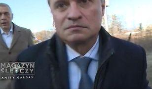 """Moment """"szarży"""" Leszka Czarneckiego na ekipę TVP"""