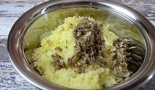 Kotlety ziemniaczane z pieczarkami i żółtym serem