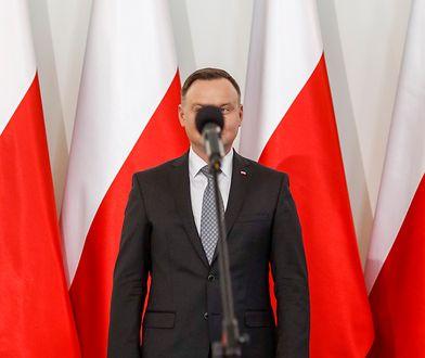 Prezydent Andrzej Duda został zasłonięty