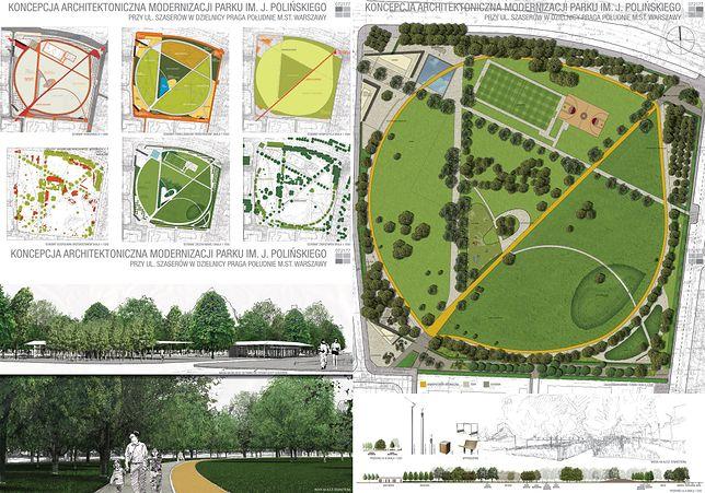 Tak będzie wyglądał Park im. J. Polińskiego! [WIZUALIZACJE]