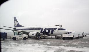 Lotnisko Chopina w Warszawie. Boeing 737 lądował w asyście