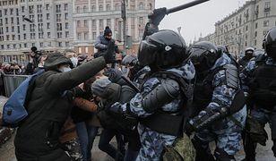 Rosja. Demonstracje w Rosji. Protestujący żądają uwolnienia Aleksieja Nawalnego