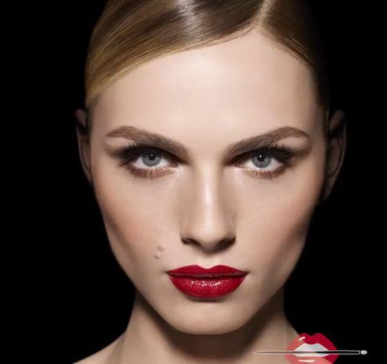 Andreja Pejic w kampanii kosmetyków Make Up Forever