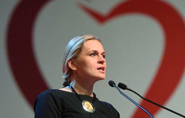 Barbara Nowacka na konwencji Zjednoczonej Lewicy