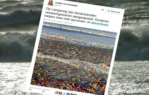 Sztorm wyrzucił na brzeg tysiące plastikowych jajek