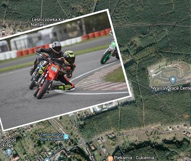 Właściciele profesjonalnych torów wyścigowych nie mają łatwego życia (Fot. Google Maps/WallraV Race Center)
