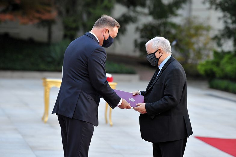 Jarosław Kaczyński bez rękawiczek. Na zaprzysiężeniu nowego rządu