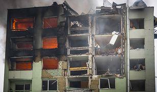 Pożar bloku w Preszowie