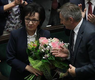 Marszałek Sejmu Elżbieta Witek, która zastąpiła kolegę z PiS Marka Kuchcińskiego