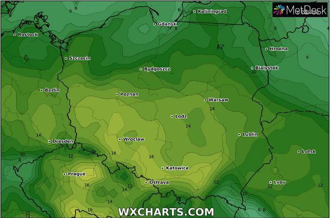 Prognoza pogody na sobotę 18 maja dla największych miast w Polsce.