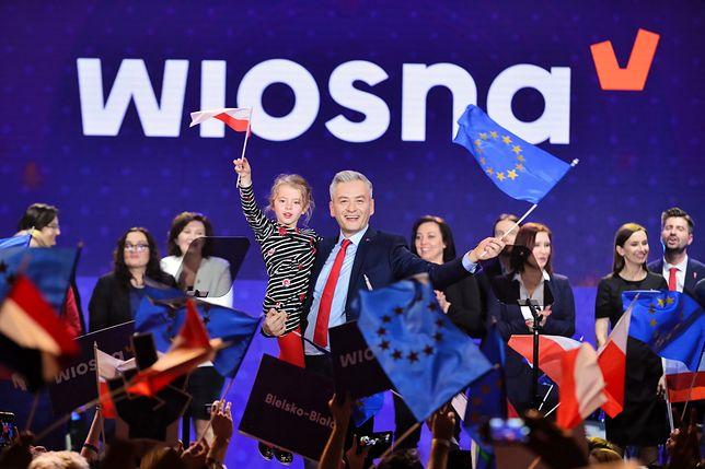 Warszawa. Konwencja wyborcza Wiosny Roberta Biedronia