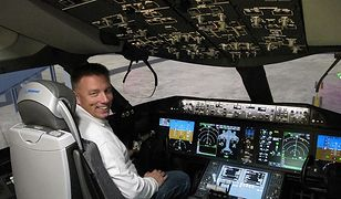 Piotr Lipiński od dziecka marzył, żeby zostać pilotem