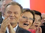Radość w sztabie wyborczym PO
