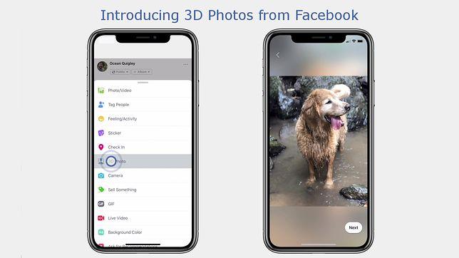 Facebook wprowadza zdjęcia 3D