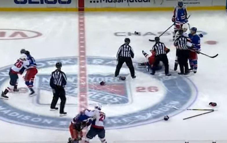 Dantejskie sceny przed meczem NHL. Doszło do potężnej bijatyki