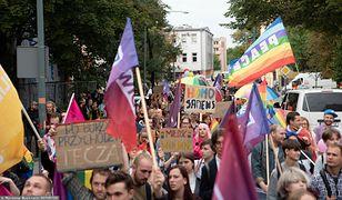 Spłonęła tęczowa flaga, były wyzwiska. Trzeci Marsz Równości w Opolu