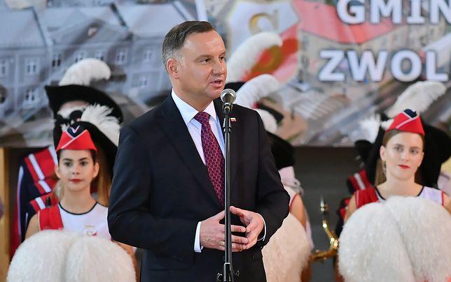 Andrzej Duda w Zwoleniu. Tak mocno o sędziach nie mówił nigdy