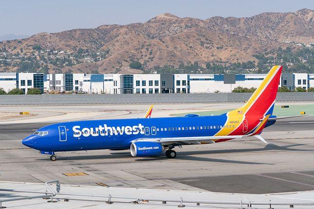 Samolot należący do linii Southwest Airlines