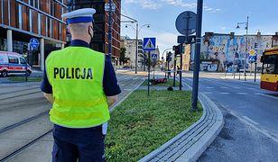 Wypadek w Łodzi. Pijany motocyklista w szpitalu. Pasażer zmarł