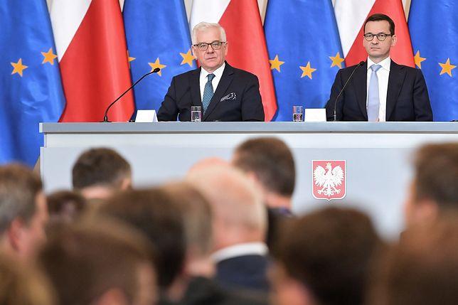 Minister spraw zagranicznych Jacek Czaputowicz i premier Mateusz Morawiecki