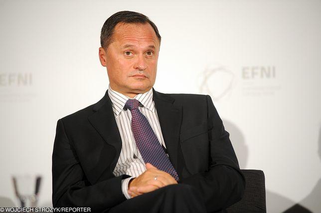 """""""Afera KNF"""": Marek Chrzanowski (przewodniczący KNF) został oskarżony przez Leszka Czarneckiego (na zdjęciu) """"o zaoferowanie przychylności dla Getin Noble Banku w zamian za mniej więcej 40 mln zł"""""""