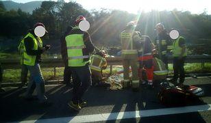 Do wypadku doszło na zakopiance na wysokości zjazdu na Pcim