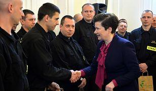 Prezydent Warszawy podziękowała strażakom