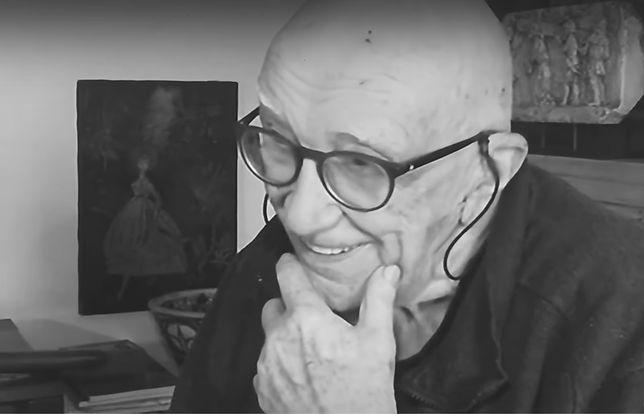 Henri Vernes w wieku 100 lat. Kadr z programu informacyjnego La Une