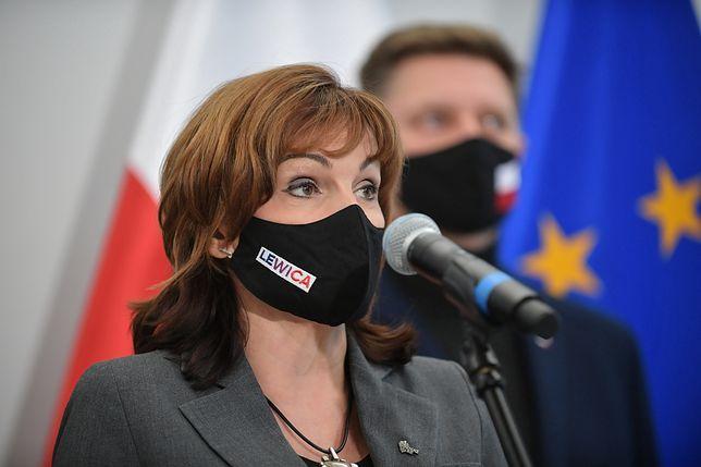 Jedną z organizatorek konferencji nt. emerytur mundurowych była wicemarszałek Senatu Gabriela Morawska-Stanecka