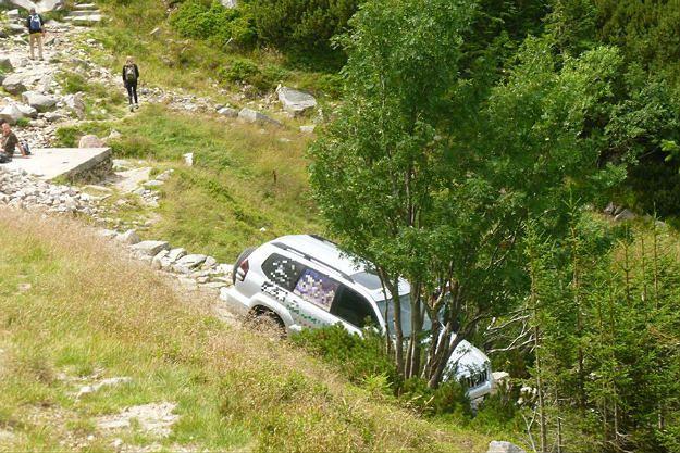 Dolny Śląsk: o krok od tragedii. Mężczyzna wjechał samochodem do parku narodowego