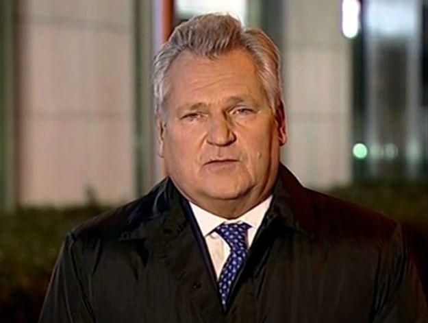 Aleksander Kwaśniewski: smutny dzień, co tu dużo gadać